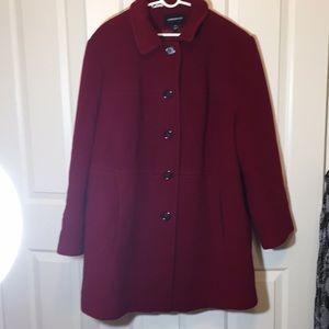 London Fog red wool cloth coat